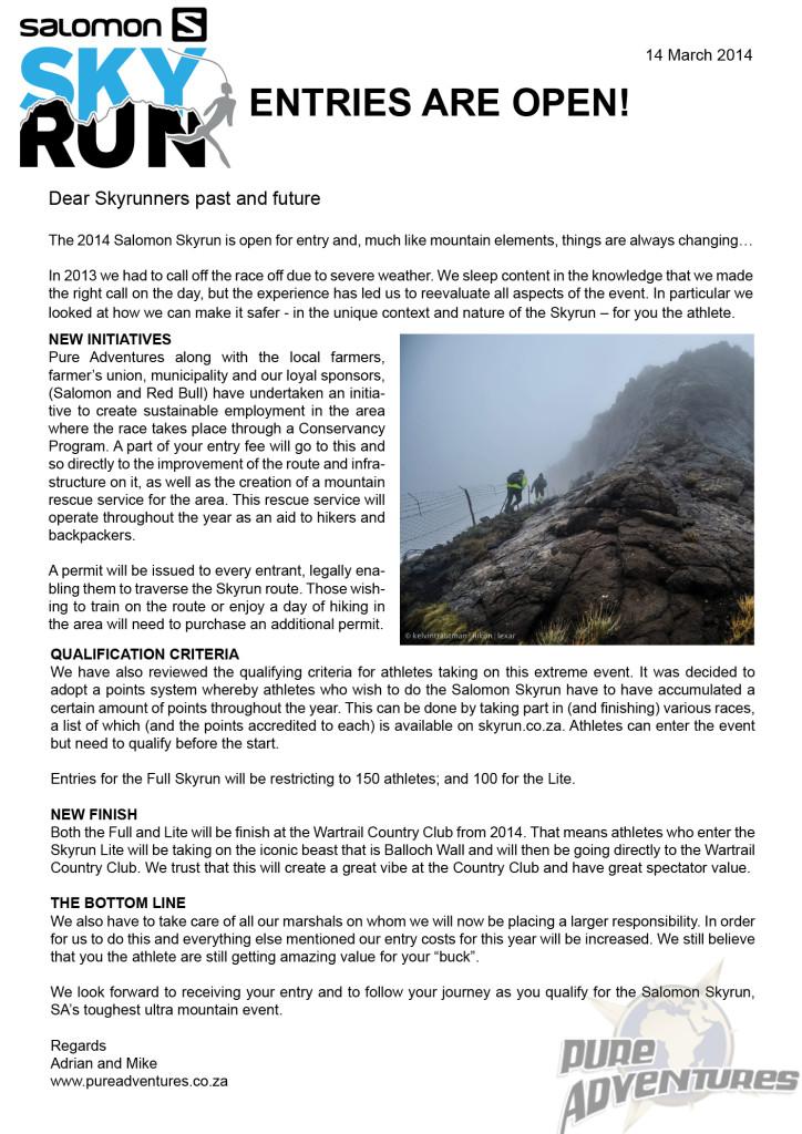 Salomon Skyrun Newsletter1